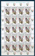 Italia 1997 -- Juventus Campione D'Italia -- Foglio Completo **MNH - 6. 1946-.. Republic