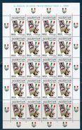 Italia 1997 -- Juventus Campione D'Italia -- Foglio Completo **MNH - Full Sheets