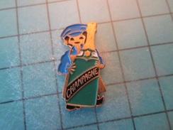 PIN512F Pin's Pins / Belle Qualité Et TB état !!!! :   BOUTEILLE DE CHAMPAGNE    Marquage Au Dos : -  - - Beverages