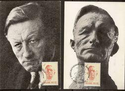 "BELG.1973 1690 2 X MK-MC TYPE A & B ""Louis Pierard (1886-1952) "" - Cartes-maximum (CM)"