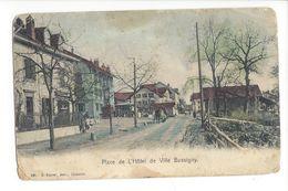 19076 - Place De L'Hôtel De Ville Bussigny (Etat Moyen Plis Dans Les Coins) - VD Vaud