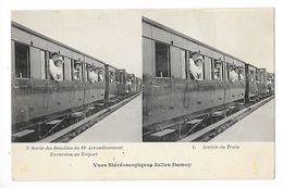 3° Sortie Des Bambins Du 19° Arrondissement - Arrivée Du Train, Carte Stéréoscopique -   -  L 1 - District 19
