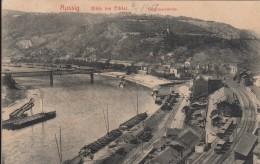 AK - AUSSIG - Umladehafen Mit Blick Ins Elbtal 1912 - Repubblica Ceca