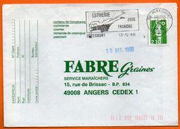 88 MIRECOURT  LUTHERIE  1990 Lettre Entière N° HH 742 - Poststempel (Briefe)