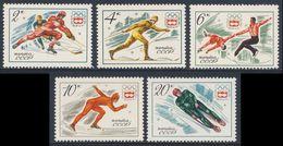Soviet Unie CCCP Russia 1976 Mi 4444 /8 YT 4225 /9 ** Ice Hockey, Skiing, Figure Skating, Speed Skating, Tobogganing - Winter 1976: Innsbruck