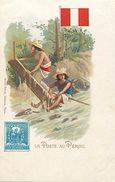 Pays Div-ref L136- Perou- Peru  -la Poste - Post Office - Timbre - Philatelie - Illustrateurs - Dessin Illustrateur - - Peru