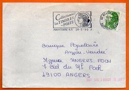 92 NANTERRE  LES TIMBRES POSTE 1990 Lettre Entière N° HH 746 - Postmark Collection (Covers)
