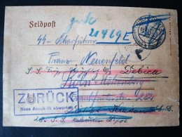 SS Feldpostbrief, SS Scharführer ... SS Trupp Debica, 19.3.43 - Germany