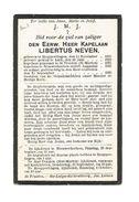 P 436. E.H.Kapelaan LIBERTUS NEVEN - °HOEPERTINGEN 1893 /LUIK/ ST-TRUIDEN/ NIEUWERKERKEN En Aldaar +1926 - Images Religieuses