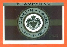 étiquette De Champagne Martin Laval à Chigny Les Roses - 75 Cl - Champagne