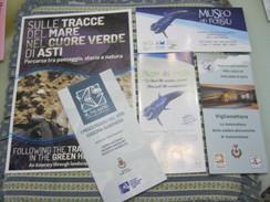 Z3 ITALIA ASTI 5 DEPLIAN FOSSILI MUSEO PALEO PALEONTOLOGIA BALENA WHALE BALEINE WAL CONCHIGLIA SCHELL VEDI 6 FOTO - Fossili