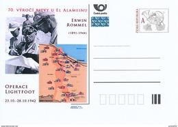 Tschech. Rep. / Ganzsachen (Pre2012/62) 70. Jahrestag Der Schlacht Von El Alamein (1942), Erwin Rommel (1891-1944) - 2. Weltkrieg