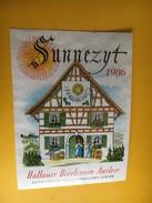 6486 - Sunnezyt 1986 Hallauer Beerliwein Auslese Suisse Petite étiquette - Etiquettes