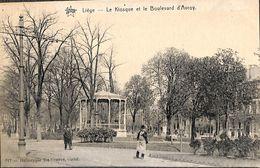 Liège - Le Kiosque Et Le Boulevard D'Avroy (animée, Héliotypie De Graeve) - Liege