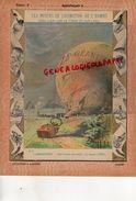 PROTEGE CAHIER-N° 5-  MOYENS LOCOMOTION HOMME-AEROSTATION-MONTGOLFIERE -ATTERRISSAGE DU BALLON  LE GEANT 1863 - Transports