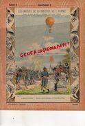 PROTEGE CAHIER-N° 7- MOYENS LOCOMOTION HOMME-AEROSTATION-MONTGOLFIERE -BALLON CAPTIF MILTAIRE DE COUTELLE 1793 - Transport
