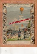 PROTEGE CAHIER-N° 7- MOYENS LOCOMOTION HOMME-AEROSTATION-MONTGOLFIERE -BALLON CAPTIF MILTAIRE DE COUTELLE 1793 - Transports