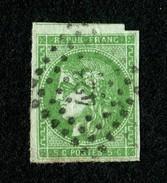 Cérès N° 42Bh (vert) Oblitéré - Avec Voisin - BE - Pas D'aminci - Cote 900,00 € - 1870 Ausgabe Bordeaux