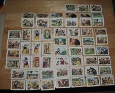 Rare 58 Vignettes Blanche-neige Et Les 7 Nains Walt-Disney Chocolat Menier - Stickers