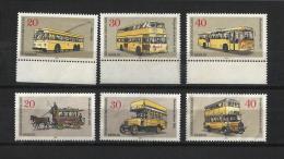 MG88bis)TEMATICA Trasporti BUS -Berlin-1973 2serie Cpl.6val. MNH** - Bus
