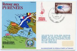 BELGIUM : ROYAL AIR FORCES ESCAPING SOCIETY : RESEAU COMETE : BAYONNE : RAF NORTHOLT - FDC