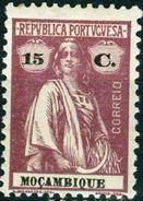MOZAMBICO, MOZAMBIQUE, COLONIA PORTOGHESE, PORT. COL., CERES, 1914, NUOVI (MLH*), Mi. 163C   YT 165(A)   Scott 167a - Mozambique