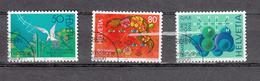 1992    N° 823 à 825  OBLITERES   VENDU à 15%   CATALOGUE  ZUMSTEIN - Suisse