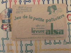"""Vintage""""Jeu De L'ALSA"""" Années 50+Règle Du Jeu-Dépliant Publicitaire Levure Alsacienne Nancy+enveloppe Originale Protecti - Other"""