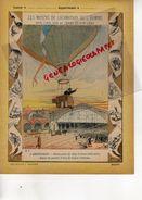 PROTEGE CAHIER-N° 9-MOYENS LOCOMOTION HOMME-AEROSTATION-MONTGOLFIERE -BALLON POSTE DU SIEGE DE PARIS 1870-ORLEANS GARE - Transport