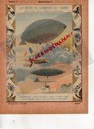 PROTEGE CAHIER-N° 10-MOYENS LOCOMOTION HOMME-AEROSTATION-MONTGOLFIERE -BALLON DIRIGEABLE VAPEUR GIFFARD 1852-DUPUY LOME - Transports