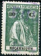 MOZAMBICO, MOZAMBIQUE, COLONIA PORTOGHESE, PORT. COL., CERES, 1922, USATI, 30 C,. Mi. 246A,  YT 240(A), Scott 173 - Mozambique
