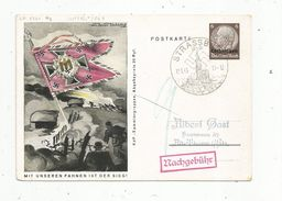 Sur Carte Postale , Postkarte , Allemagne , Lothringen , STRASSBURG ,1943 , Mit Unseren Fahnen Ist Der Sieg ! - Besetzungen 1938-45