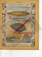 PROTEGE CAHIER-N° 11-MOYENS LOCOMOTION HOMME-AEROSTATION-MONTGOLFIERE -BALLON DIRIGEABLE GASTON TISSANDIER-LA FRANCE - Transports