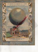 PROTEGE CAHIER-N° 12-MOYENS LOCOMOTION HOMME-AEROSTATION-MONTGOLFIERE -BALLON CAPTIF GIFFARD-COUR TUILERIES PARIS 1878 - Transports
