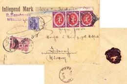 Wurzen 1920, Wertbrief Nach Biberach. Fa. Kunstmann - Cartas
