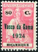 MOZAMBICO, MOZAMBIQUE, COLONIA PORTOGHESE, PORT. COL., CERES, 1924, NUOVI (MLH*), 80 C. Mi. 262   YT 260   Scott 237 - Mozambique