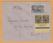 C12.  Wallis Et Futuna  Protectorat Français Wallis 24 DEC 35  Verso= Paris 15.2.1936 - Wallis Und Futuna