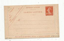 Carte Lettre ,  ENTIER POSTAL NEUF , 10c - Ganzsachen