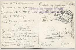 Schweiz - 1916 - POW-Postcard From LES RASSES To France - Documenten