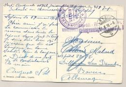 Schweiz - 1916 - Censored POW-Postcard From LEYSIN To Bayern / Deutschland - Documenten