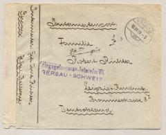 Schweiz - 1919 - Censored POW-cover From GERSAU To Leipzig / Deutschland - Unter Kriegsrecht Geöffnet - Documenten