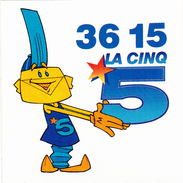 AUTO-COLLANT Publicitaire : LA CINQ - Advertising