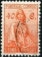 ST. THOMAS AND PRINCE ISLANDS, COLONIA PORTOGHESE, CERES, 1934, USATI, 40 C. Michel 281   YT 293   Scott 289 - St. Thomas & Prince