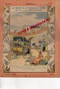 PROTEGE CAHIER-N° 9-MOYENS LOCOMOTION HOMME-LES CHARS VOITURES TRAMWAYS-DILIGENCES EN 1840-COUR DES MESSAGERIES POSTE - Transport