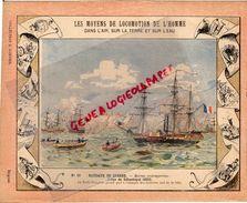 PROTEGE CAHIER-N° 1-MOYENS LOCOMOTION HOMME-BATEAUX DE GUERRE-SIEGE SEBASTOPOL 1853-LA FLOTTE FRANCAISE A L' ATTAQUE - Transports