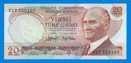 Banconota  Da 20   TURK  LIRASI  -  TURCHIA  - Anno  1970. - Turchia
