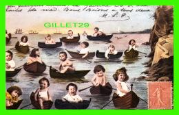 ENFANTS - CHILDRENS -  GROUPE D'ENFANTS EN CHALOUPE -  ÉDITIONS ANDRÉ BALLAND - - Groupes D'enfants & Familles