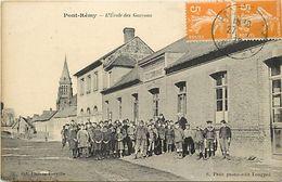 - Somme -ref-C87- Pont Remy - Ecole De Garçons - Ecoles - Ecolier - Ecoliers - Carte Bon Etat - - Other Municipalities