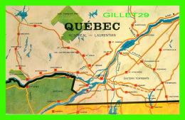 CARTES GÉOGRAPHIQUE DE  QUÉBEC - MONTRÉAL-LAURENTIAN - BENJAMIN NEWS CO - - Cartes Géographiques