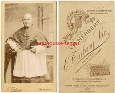 CDV Personnalité Religieuse En 1897-évêque?-photo Ch. Herbert Tabary Succ. Peintre En Face De Cathédrale-Beauvais - Old (before 1900)